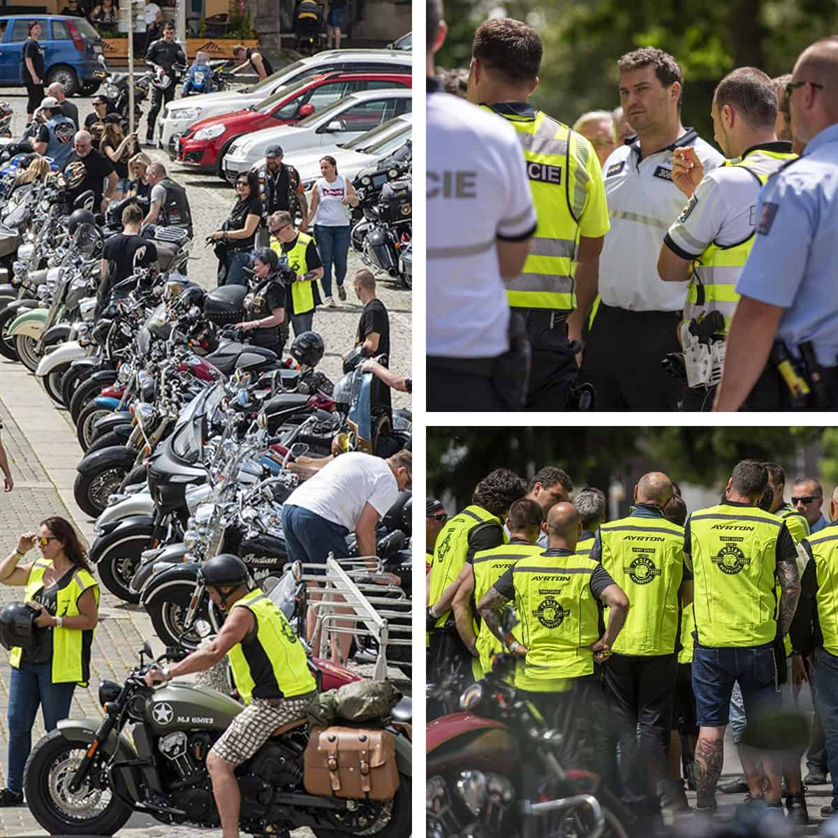 Parade Ride under police escort - Indian Riders Fest Budweis 12.06- 14.06.2020