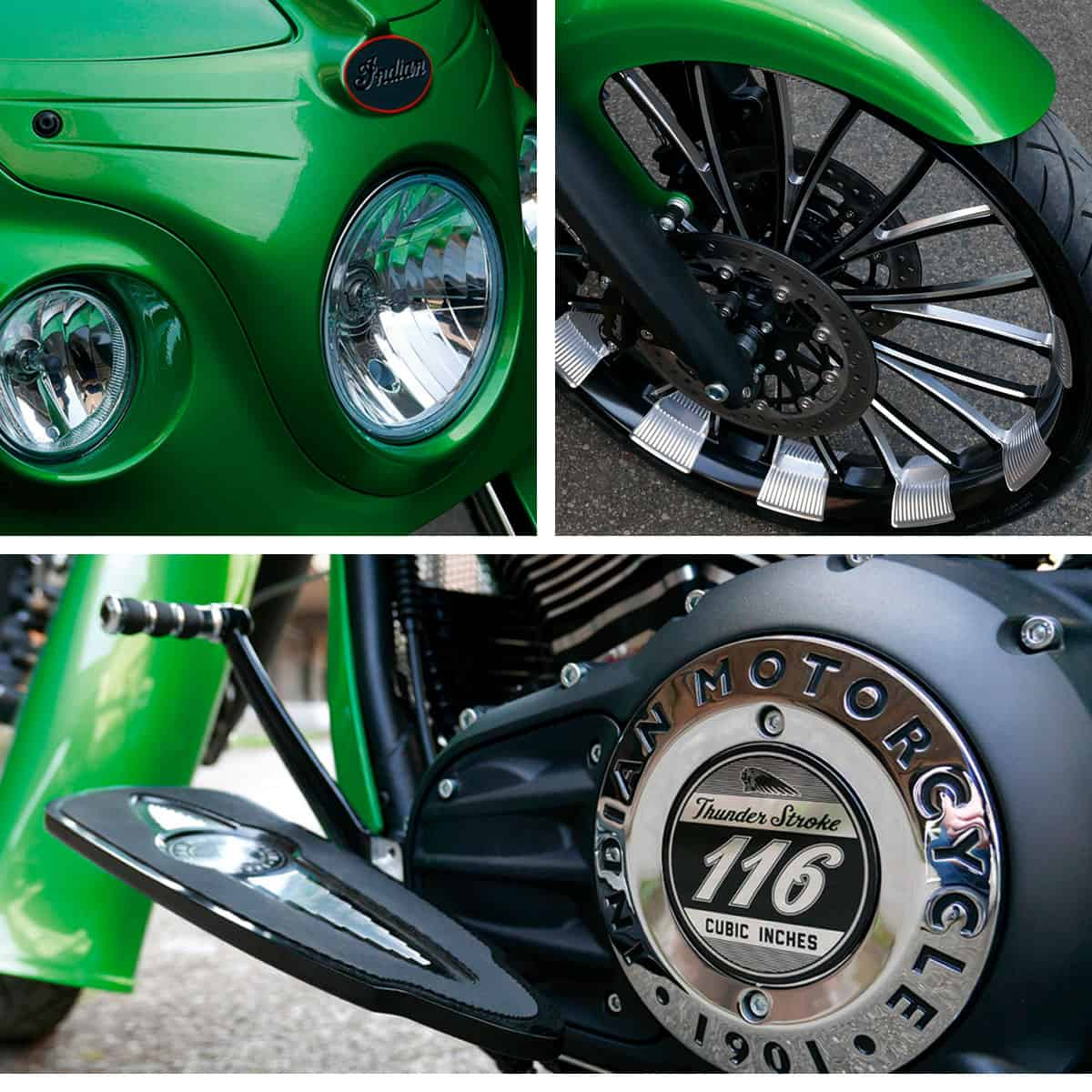 Indian Motorcycle Custom Show - Indian Riders Fest 2020 Budweis (Green Simon's Indian Metz)