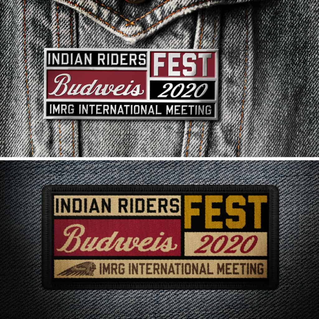 Limited Edition Metal Pin and Textile Patch Indian Riders Fest 2020